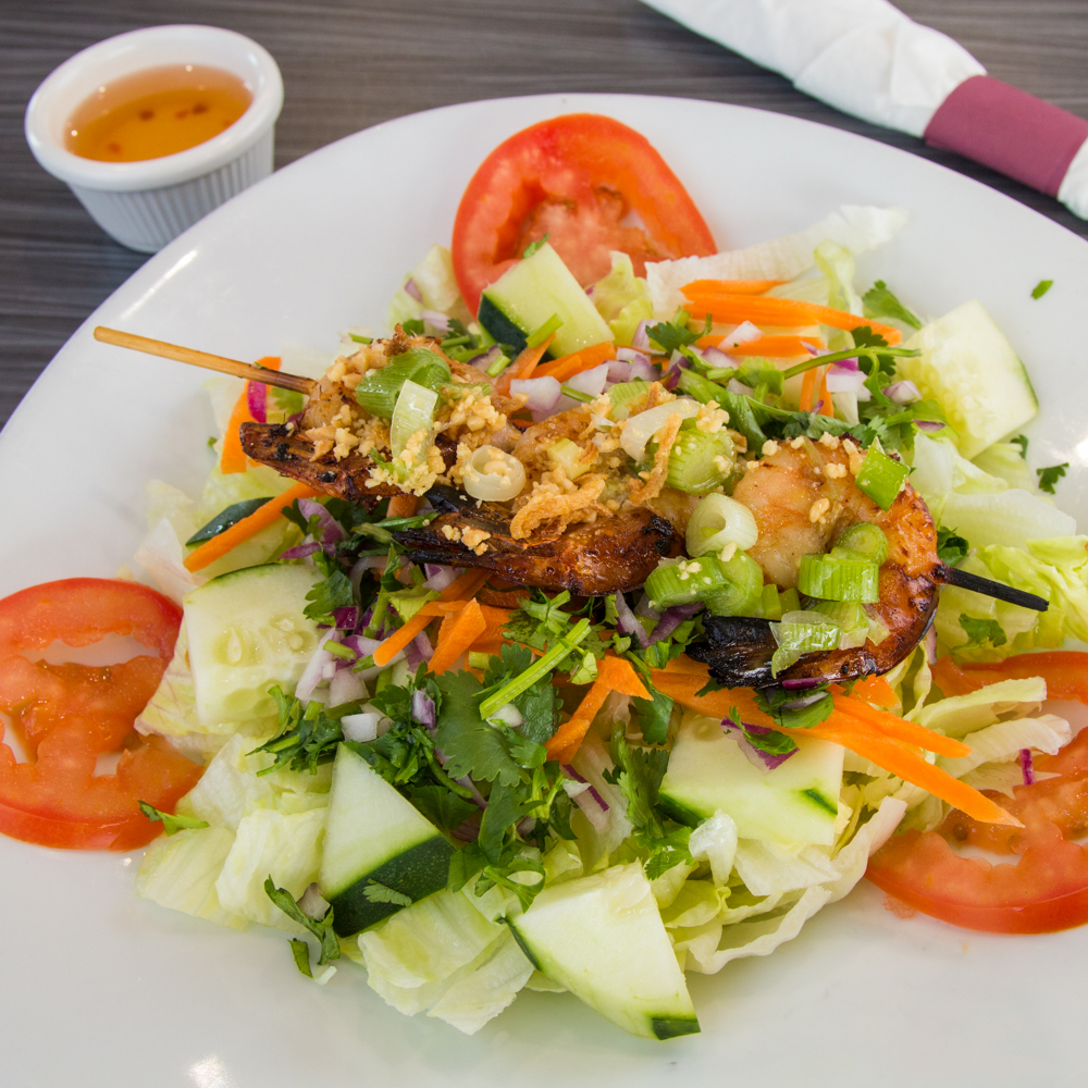 Honey Lemongrass Shrimp Salad - FuBelly
